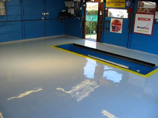 High gloss epoxy workshop floor paint ideas