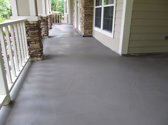 Painting concrete floors ideas with grey paint
