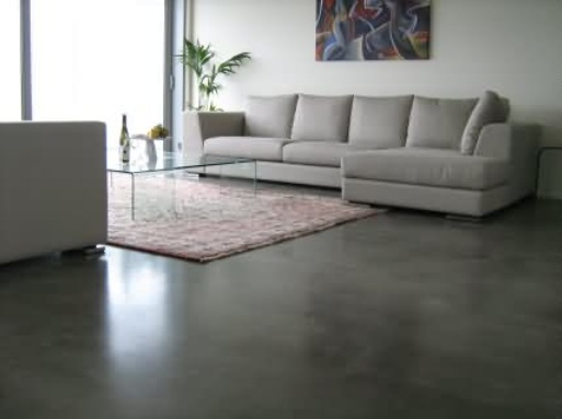 Painting concrete floors in living room