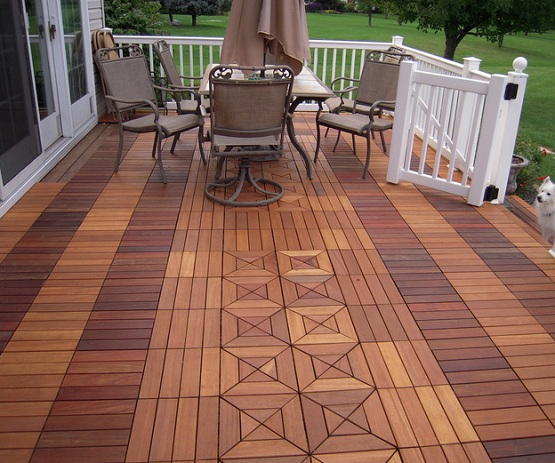 Interlocking Deck Tiles For Luxurious Outdoor E Beautiful Ipe Teak Wood