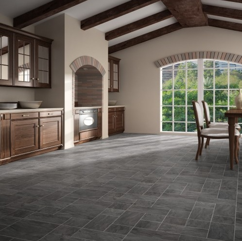 Laminate flooring that looks like tile design tips for Laminate floor coverings for kitchens