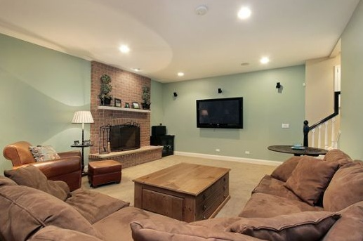 Cream Laminate Flooring Best Color To Match Combined With Blue Paint Wall