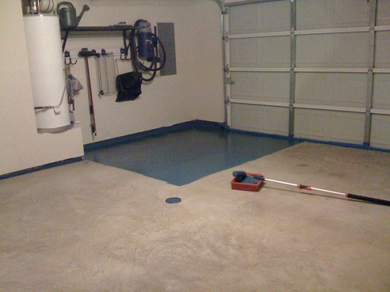 Garage floor sealant steps