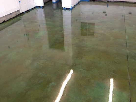 Garage floor sealant with acrylic sealer