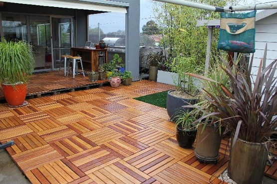 Interlocking Deck Tiles For Luxurious Outdoor Space Flooring Ideas