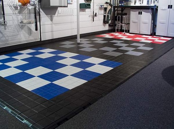 Interlocking Plastic Floor Tiles For Custom Garage