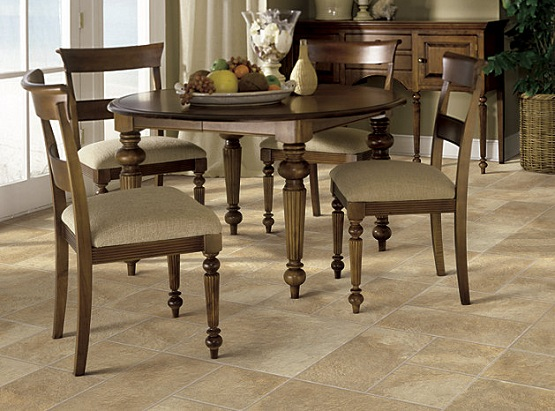 Laminate flooring that looks like tile for dining room