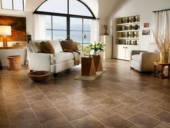 Laminate flooring that looks like tile for living room
