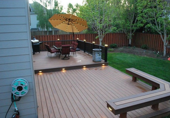 Outdoor flooring options with deck flooring