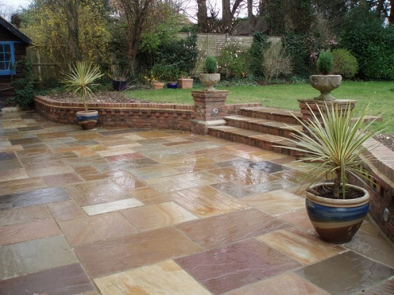 Outdoor Tile For Patio Creates Well Structured Outdoor