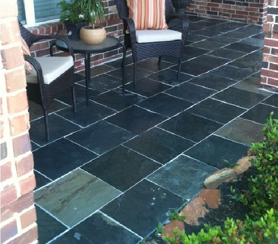 Outdoor tile for patio with classic style