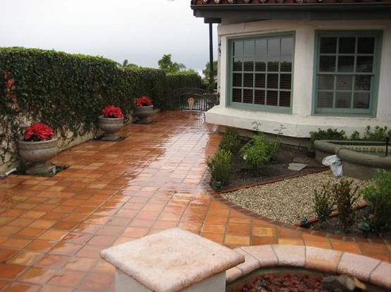 Outdoor tile for patio with custom tile installation