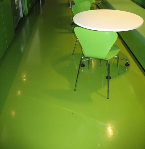 Rubber floor paint for kitchen