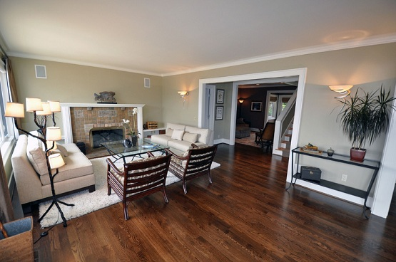 Dark oak wood flooring options for living room