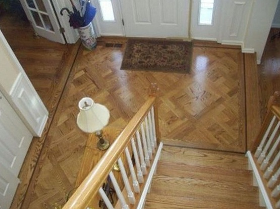 Different wood floors in house with custom installation