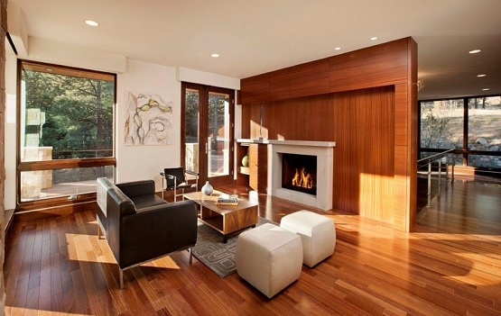 Wood flooring options for living room with wood room partitions