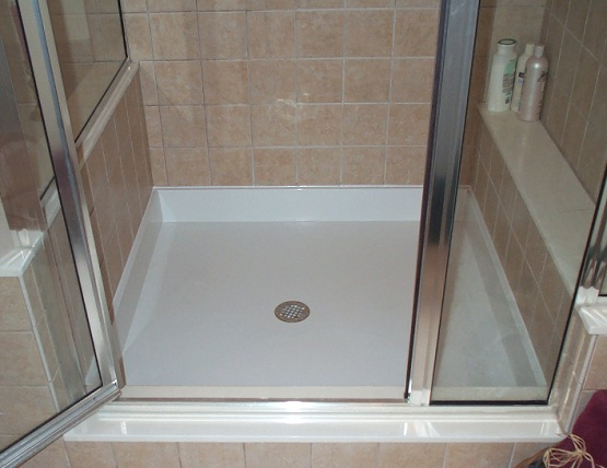 Fiberglass shower floor paint ideas with white