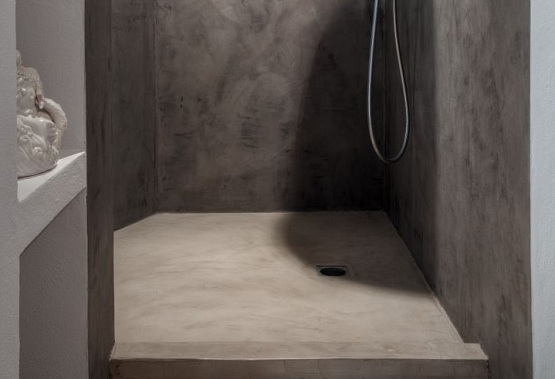 Shower floor paint ideas with white-gray