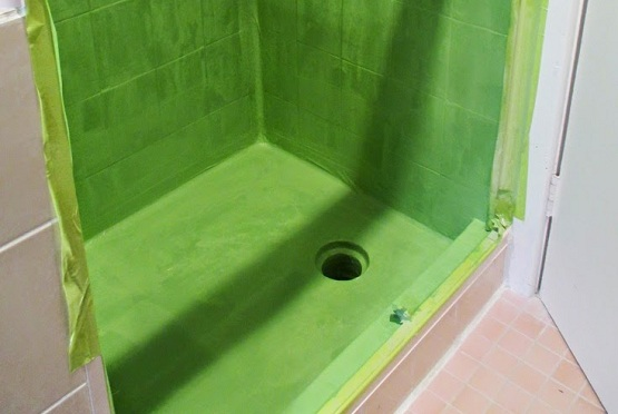 Waterproof shower floor paint