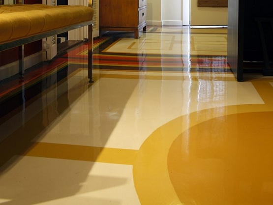 Best flooring for living room with concrete paint floor