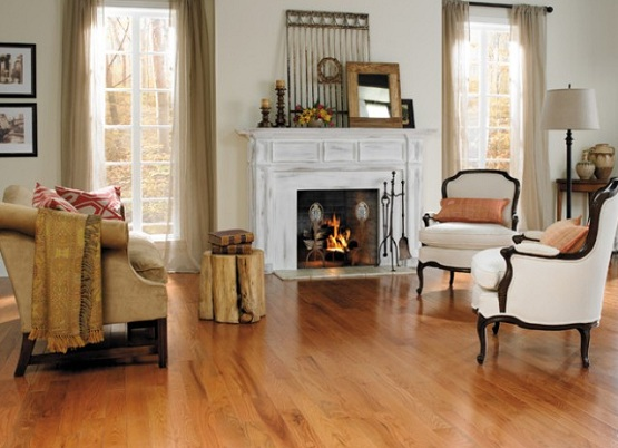 Best flooring for living room with light brown hardwood floors