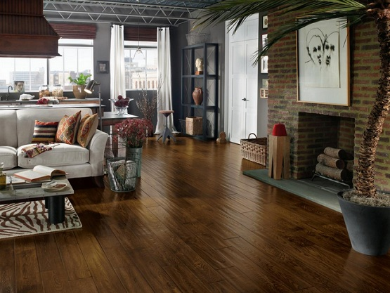 Best flooring for living room with natural hardwood floor finish