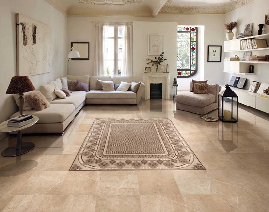 Superior Tiles Design For Living Room To Rank Up Space » Brown Tiles Pattern Design  For Living Room With Modern Classic Style Living Rooms