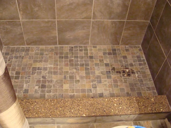 Mosaic slate tile for bathroom shower floor