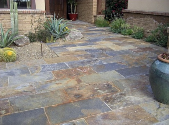 Slate Patio Tiles Best Outdoor Flooring Floor For Traditional