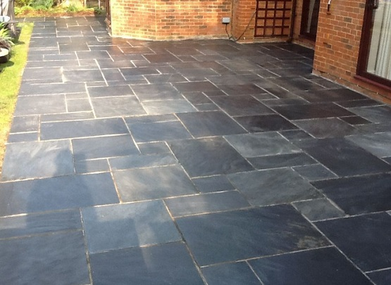 Slate tiles outdoor floor for outdoor patio flooring