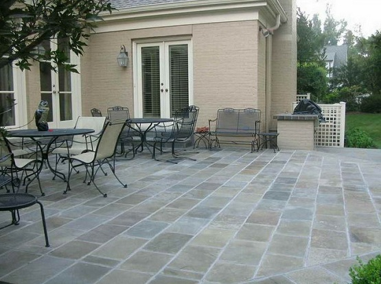 Slate Tiles Outdoor Flooring Options And Ideas » Slate Tiles Outdoor  Flooring On Simple Patio Designs