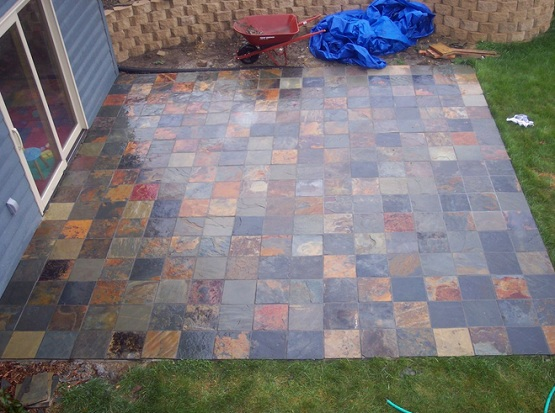 Slate tiles outdoor for backyard patio