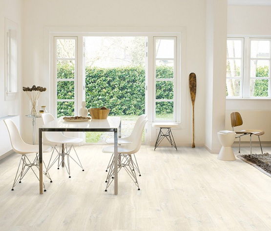 White Oak Laminate Flooring For Dining Room With