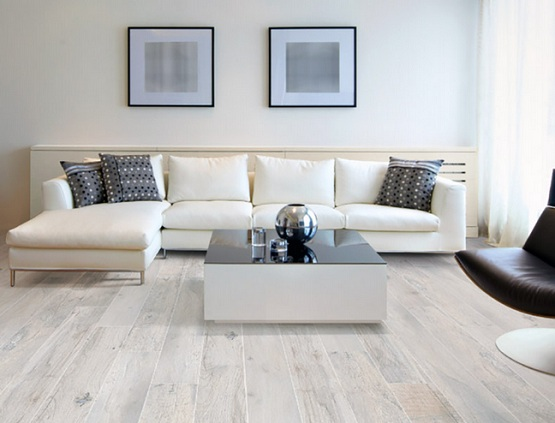 White oak laminate flooring for living room with for Cheap flooring ideas for living room