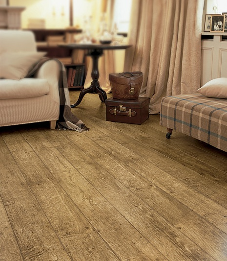 Antique oak laminate flooring with natural looks finish
