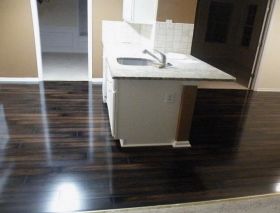 Solid black clearance laminate flooring for kitchen
