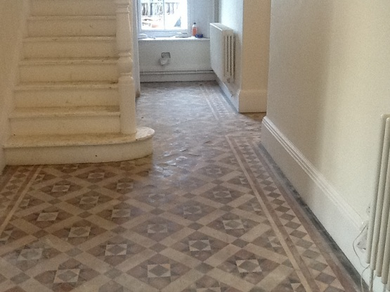 Victorian floor tiles absorption