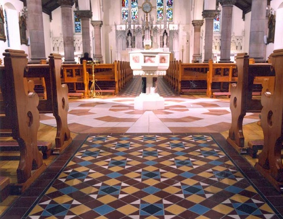 Victorian floor tiles in ecclesiastical buildings