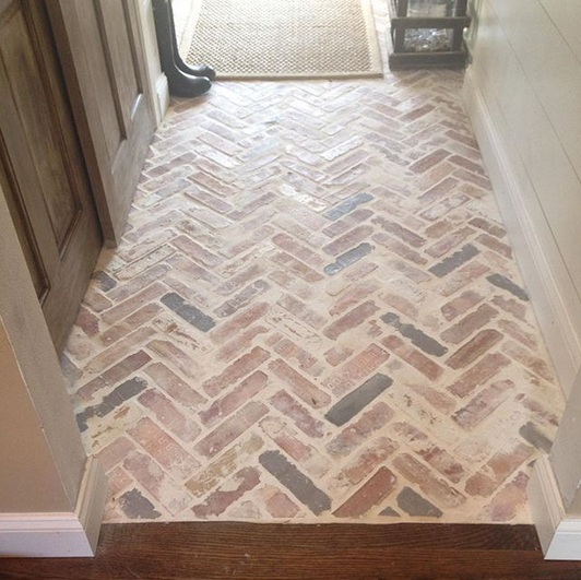 Brick Paver Entryway Whitewash Flooring Ideas Floor